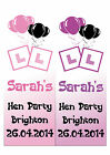 PERSONALISED HEN PARTY LARGE VERTICAL DOOR PAPER BANNER PINK AND BLACK L@@K