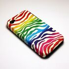 For Apple iPhone 4 / 4s Hybrid 2-in-1 Phone Cover Case Light Rainbow Stripes
