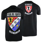 Fear The Fighter Hero T-Shirt (Black) - mma ufc bjj