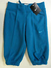 GIRLS NIKE JERSEY JUST DO IT CROPPED CAPRI BOTTOMS TROUSERS JOGGERS BLUE HOLIDAY