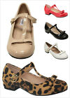 New Kids Girl's Bow Decor Round Toe Mary Jane T-Strap Low Heel Dress Pumps Shoes