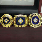 3Pcs 1955 1981 1988 Los Angeles Dodgers World Series Championship Ring 8-14Size