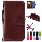 Luxury Leather Wallet Card Holder Flip Stand Case Cover For Samsung Galaxy Phone