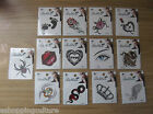 TEMPORARY TATTOO BODY TATTOOS BODY ART BRAND NEW SEALED various choose design
