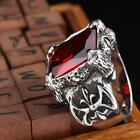 CZ Rings Celtic Cross Black Red Rhinestone Harley Biker Unique Jewelry Punk Band