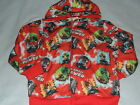 LEGO LEGENDS OF CHIMA RED ZIP UP SWEATER HOODIE SIZE 4 NEW!