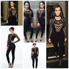 Celebrity Style Lace Insert Unitard Jumpsuit Size 6,8,10,12UK/2,4,6,8US/36-40EU