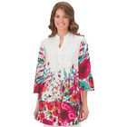 Collections Etc Women's Floral Print V-neck Tunic Top