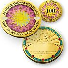 24,48,72/100 Finds En 24 Horas Geocaching Achievement Juego De Geocoin Y Broche