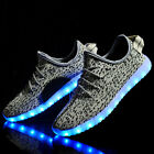 LED Light Lightweight Breathable Mesh Running Shoes men's Sports Casual