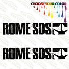 "2 of 8"" Rome SDS /B snowboard car truck window bumper stickers decals die cut"