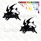 "2 of 5"" Burton Uninc Pig /A snowboard car truck window bumper stickers decals"