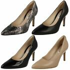 Ladies Clarks Dinah Keer High Heel Smart Leather Court Shoes D Fitting