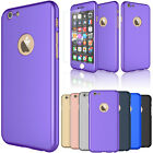 For iPhone 6 / 6S Plus 360° Full Tempered Glass Screen Protector Hard Case Cover