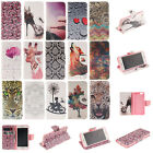 For iPhone Huawei LG Flip Stand PU Leather Wallet Phone Case Cover Patterned