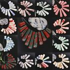Gemstone Bar Stick Loose Beads Pendant Set Howlite Turquoise Jewelry Colorful