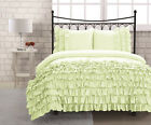 IVORY HALF RUFFLED DUVET COVER BED SKIRT 1000TC 100% COTTON CHOOSE SIZE