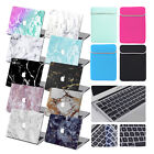 Marble Prints Rubberized Case Hard Shell +Keyboard Cover+Bag For Macbook Pro Air
