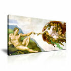 The Creation of Adam Michelangelo Canvas Framed Print Wall Art ~ More Size