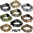 Heavy Duty Tactical Military Dog Collar Handle Medium Large Plastic Buckle M-XXL