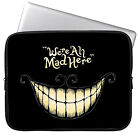 11.6 13.3 15.4 inch WE ARE ALL MAD HERE Waterproof Laptop Sleeve Case Bag Cover