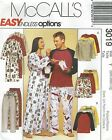 McCall's 3019 Misses' & Men's Robe, Top, Pull-On Pants or Shorts