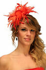 Red & Coral Pink Fascinator Hat/choose any other main & highlight feather colour
