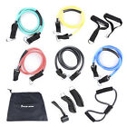 Fitness Equipment Resistance Bands Tube Workout Exercise Yoga Training Stretch
