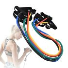 Fitness Equipment Resistance Bands Tube Workout Exercise Yoga Training Stretch image