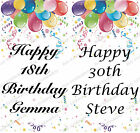 PERSONALISED BIRTHDAY ANY AGE BALLOONS LARGE VERTICAL DOOR PAPER BANNER L@@K