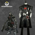 Game Overwatch Cosplay Reaper Costume Black Uniform Custom 2 Version For Xmas