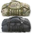 DUFFLE HOLDALL BAG 60 LITRE BLACK CAMOUFLAGE RUCKSACK HOLIDAY TRAVEL BAG