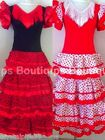 New Fabulous Ladies Spanish Flamenco Dress Red Small Medium Large Sizes