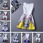 Casual New Floral Mini Sleeveless Summer Cocktail Dress Women Party Fashion