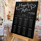 Personalised Wedding Table Seating Plan-CHALKBOARD-4 SIZES AVAILABLE