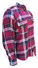 MKR Kevlar Protective Motorcycle Flannel Plaid Check Shirt Jacket CE Protectors