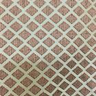 Multihued Red Diamonds on Bronze Drapery & Curtain Fabric By The Yard