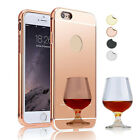 Luxury Aluminum Ultra-thin Acrylic Mirror Metal Case Cover For Iphone 5C 5s 6s 7