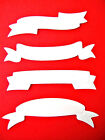 16 Embossed Ribbon Banners Die Cuts (4 Each), Greeting. Spellbinders. Any Colour