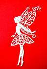 8 Fairy Die Cuts, Tattered Lace. Birthdays, Any Colour/Card