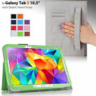 """For Samsung Galaxy Tab S 10.5"""" Smart PU Leather Case Stand Cover w/ Hand Strap"""