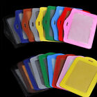 Multi color ID Badge Holder Leather Case and Lanyard Vertical & Horizontal Hot