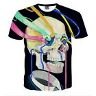 2017 New Fashion Womens/Mens Colorful Skull funny 3D Print Casual Unisex T-Shirt