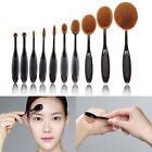 Oval Professional Cosmetic Toothbrush Shape Power Foundation Makeup Brushes Set
