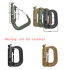 5X/ 6X Outdoor Mountain buckle D-ring Clip Hook Backpack Buckle Military Supplie