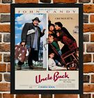 Framed Uncle Buck Movie Poster A4 / A3 Size In Black / White Frame