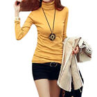 Women Turtle Neck Long Sleeve Pullover Slim Fit Casual T-Shirt