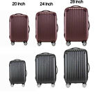"""20"""" 24"""" 28"""" Carry On Luggage Travel Bag Spinner Suitcase ABS+PC Trolley TSA Lock"""