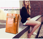 Women  Lady's Oil Wax Genuine Leather Zipper Card Cash Coin Snap Purse Wallet