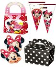 MINNIE MOUSE TABLEWARE - / MASKS / CONE BAGS / PARTY MEAL BOXES